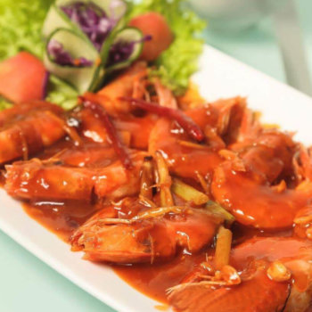 Ha Ha Fried Prawns in Sweet & Spicy Sauce